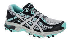 Asics Women's Gel Trabuco 14 G-TX W grey black aruba blue